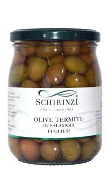 Vasetto olive verdi Termite di Bitetto in salamoia pugliese