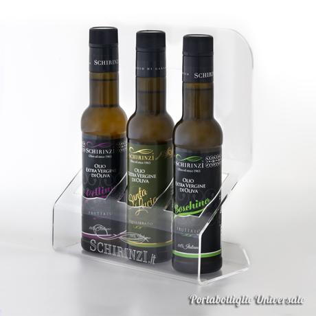 Portabottiglie in plexyglass per olio e aceto