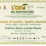 Premiazione menzione qualità olio Boschino anno 2015