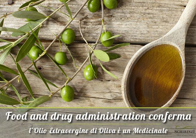 L'Olio extravergine un medicinale, lo afferma la FDA