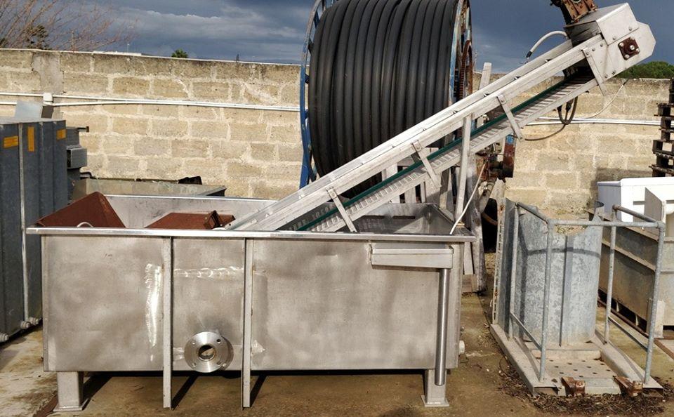 Vendita Lavatrice con elevatore acciaio inox per vegetali e ortaggi