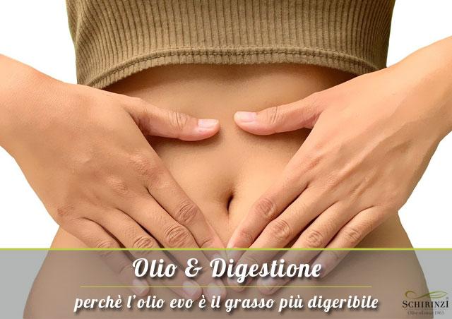 Perché l'Olio Extravergine è più digeribile rispetto agli altri grassi saturi ed insaturi