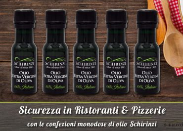 Confezione monodose olio Schirinzi: sicurezza e convenienza per ristoranti e pizzerie