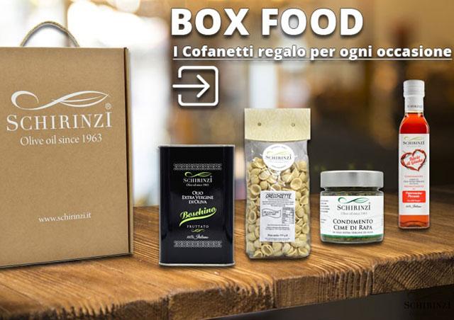 Cofanetti regalo di olio extravergine e prodotti tipici pugliesi