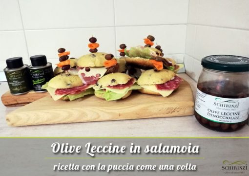 Vendita Olive Leccine denocciolate in salamoia pugliesi: polpa croccante e gustosa