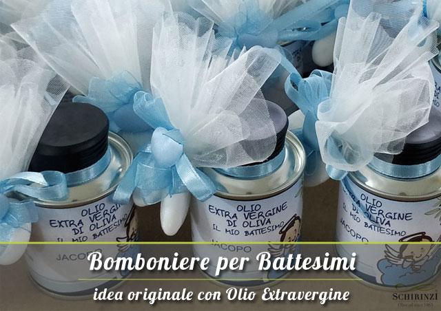 Bomboniere per battesimi con olio extravergine della Puglia
