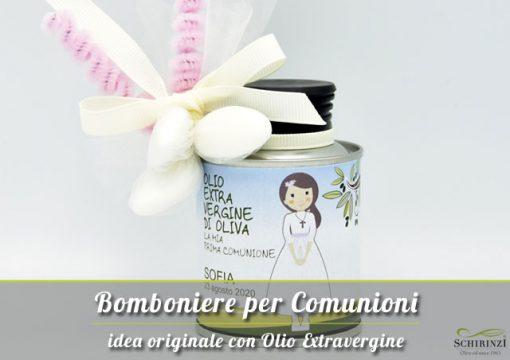 Vendita bomboniere per Comunioni in olio extravergine di oliva